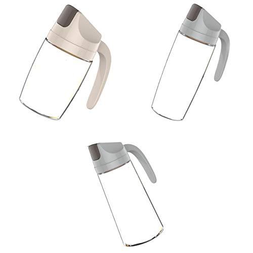 LOVIVER 3 pcs Convoy Aceitera de Cocina Botella de Aceite Olla de Vidrio a Prueba de Fugas Apertura Y Cierre Automático