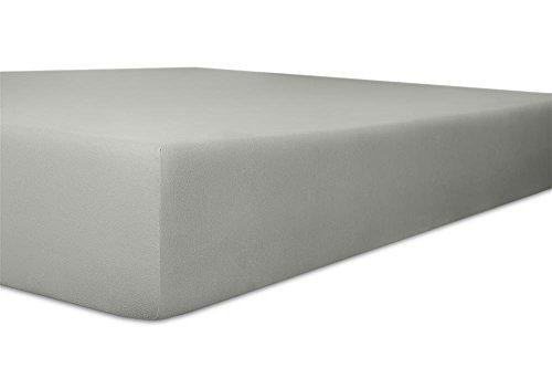 Kneer Spannbettlaken, Spannbetttuch, Edel-Zwirn-Jersey Qualität 20 Größen 90 x 190-100 x 200 cm Schiefer