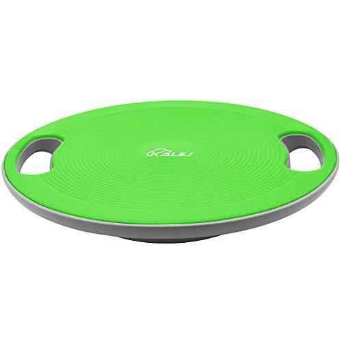 kalili バランスボード バランストレーニング コアトレーニング 体幹トレーニング ダイエット 滑り止め エクササイズ 運びやすい 水洗い可能 直径40㎝ (グリーン)