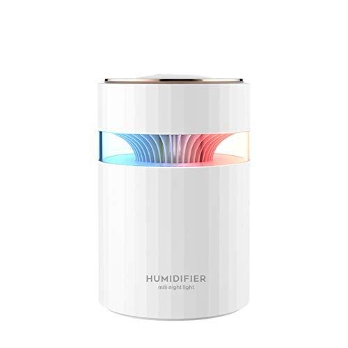 WSZOK Humidificadores de niebla fría de 900 ml, humidificador de aire silencioso con luz nocturna, apagado automático sin agua, humidificador ultrasónico ideal para dormitorio, plantas.