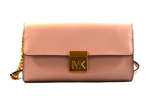 Michael Kors Mindy Leather Convertible Clutch, Rosa
