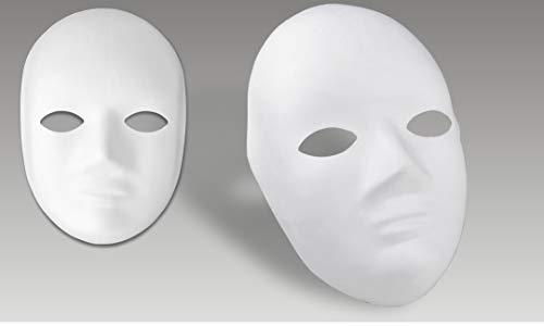 Meyco Hobby Maske blanko weiß zum Bemalen