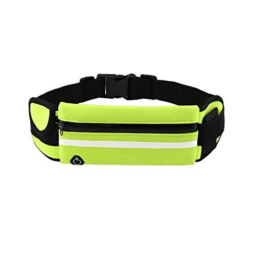 HUIJUNWENTI Travel Multifuncional Deportes Pocket Mini Fanny Pack para Hombres Mujeres Portátil Cinturón USB Paquete de Cintura Impermeable (Color : Verde)