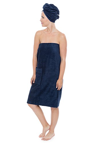 Women's Towel Wrap - Bamboo Viscose Spa Wrap Set by Texere...