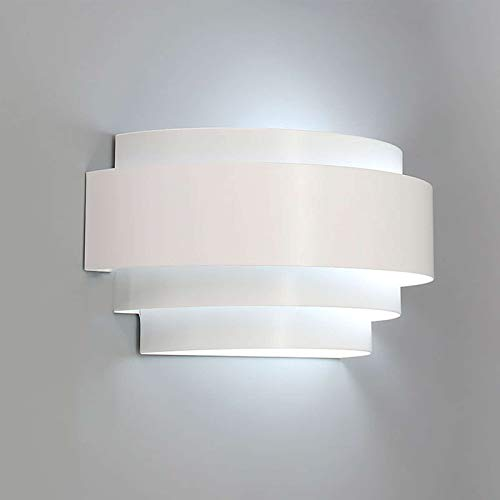 LIGHTESS Modern Sconce 7W Up and Down Wall Lights Hardwired LED Wall Lamp Indoor for Bedroom Hallway, Cool White, 6000K