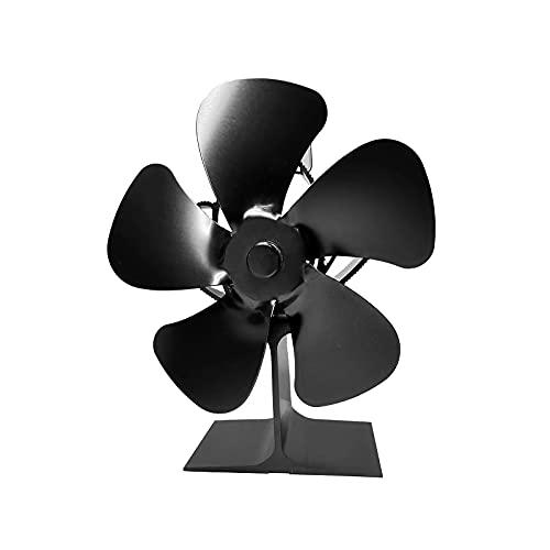 YiShuHua Chimenea Cubiertos, Fan de la Chimenea 5 Hojas Horno Ventilador, Electroless Estufas Horno con energía térmica Habitaciones Grandes para Estufas Madera ecológicos Amigable sin Electricidad