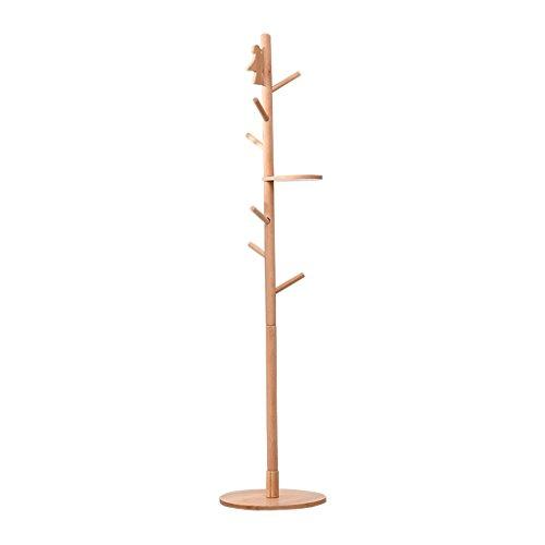 SKC Lighting-Porte-manteau Porte-manteau en bois massif Vertical Hanger Maison Creative Simple Salon moderne Chambre à coucher Cabinet (Couleur : Couleur du bois)