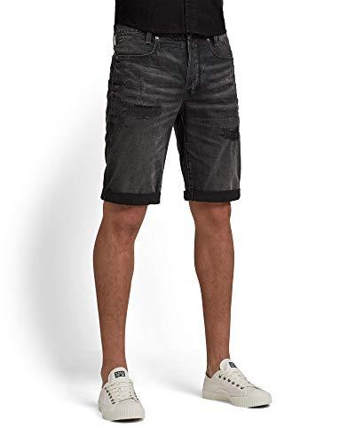 G-STAR RAW Mens D-STAQ 3D Bermuda Shorts, Worn in Tar Black Restored C526-C271, 35W