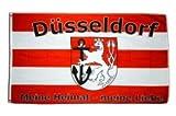 Flaggenfritze® Fanflagge Düsseldorf Meine Heimat - Meine Liebe 90x150cm