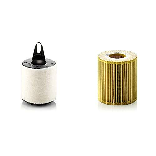 Original MANN-FILTER Luftfilter C 1361 – Für PKW & Ölfilter HU 815/2 X – Ölfilter Satz mit Dichtung/Dichtungssatz – Für PKW