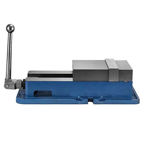Morffa 150mm Schraubstock Tischbohrmaschine 150mm Flach Schraubstock 150mm Metall Professionelle Gusseisen Schraubstock für Säulenbohrer Breite Backen