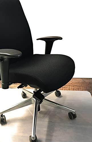 Bodenschutzmatte | 80 x 120 cm | Bürostuhl | halb-transparent, weiß| Bürostuhlunterlage