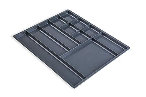 Gedotec Utensilien-Materialschale Schubkasten Fächerschale mit 8 Fächer für Schrankwand-System | 277 x 277 x 17 mm | Schubladen-Einsatz zum Organisieren von Kleinteile | 1 Stück - Organizer anthrazit