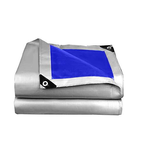 GHHZZQ Ligero PE Lona Alquitranada Al Aire Libre Vehículo Impermeable Cubierta Protectora Paño Impermeable Paño de Toldo Toldo de Camión, Peso: 160g/㎡, 28 Tamaños (Color : A, Size : 8x8m)