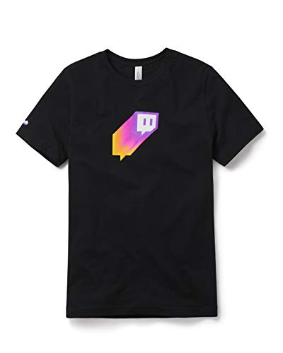 Twitch Gradient Glitch Tee L Black