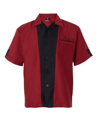 Hilton- Monterey Bowling-Shirt. - Schwarz - Klein