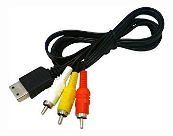 WICAREYO 6 pies 1.8m 3RCA Audio Video Cable AV para consola de juegos Dreamcast DC