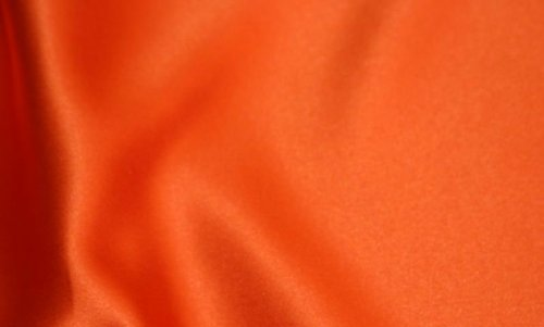 NARANJA POLIÉSTER TEJIDO RASO **INCLUYE POST** MATERIAL forro costura del mismo color tela de poliéster satinada con diseño de vestido de fiesta
