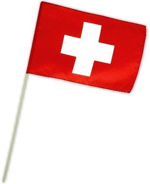 Fahne Flagge Schweiz 30 x 45 cm mit Stab