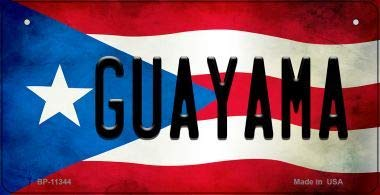 Bargain World Guayama Puerto Rico State Flag License Plate Bicycle License Plate (With Sticky Notes)