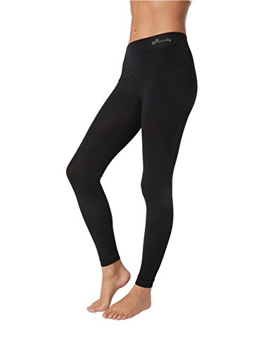 Boody Women's Full Length Leggings Size L - Organic Bamboo - Comfortable & Breathable EcoWear,Black