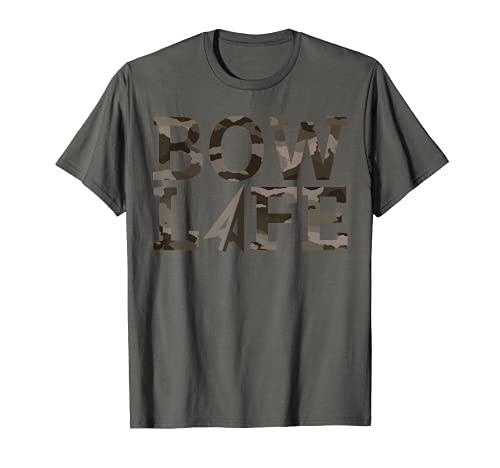 Camo Bow Life Gear Deer Caza Temporada Hunter Accesorios Camiseta