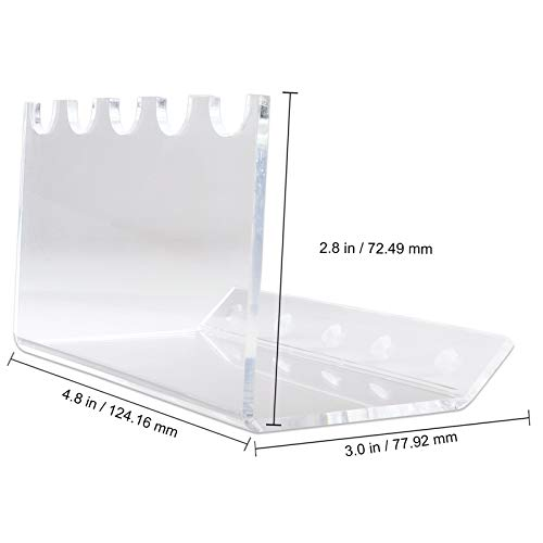 Beauticom New 5-Slots Premium Clear Acrylic for Pen, Makeup Brush, E-Cigarette, Vapor, Pencil Display Stand. Premium Quality & Duarable. Suitable for Home, Office, Store Display Usage. Photo #4