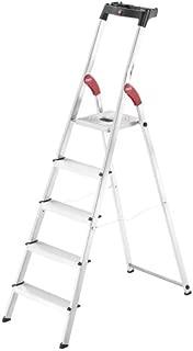 Hailo 8160-527 L60 5ft. Lightweight Folding Aluminum Platform Step Ladder with Built-in Worktray