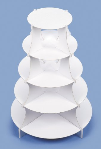 "5 Tier Round Paper Dessert Tower or Cupcake Stand - 15"" X 20"""