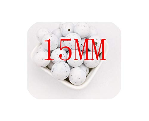 Great Deal! Baby Silicone Bead Granite 100Pc Round 12Mm 15Mm Organic Silicone Jewelry DIY Accessorie...