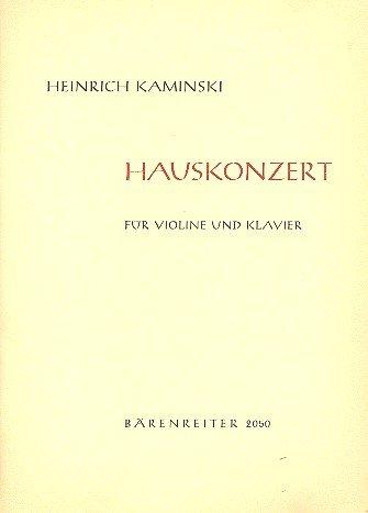 Hauskonzert : Spielpartitur(en), Stimme(n) : V/Klav
