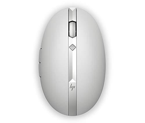 HP Spectre 700 - Ratón Recargable (Bluetooth, 1600 dpi, Desplazamiento en 4 direcciones, 11 semanas batería), Color Plata