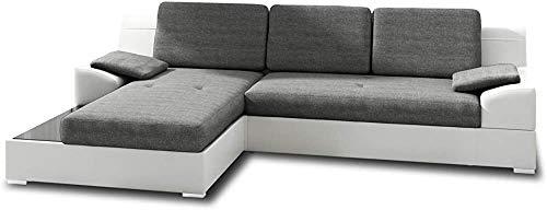 Divano ad angolo con ripiano in vetro, coperchio del divano con funzioni del letto e scatola di stoccaggio, coperchio del divano con funzione di sonno, divano grande,D-1