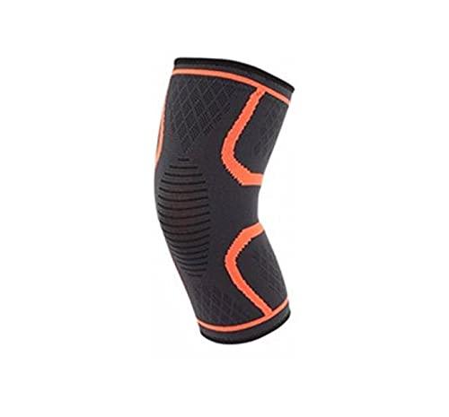 Rodillera deportiva de compresión, rodillera ortopédica, redonda, elástica, diseño antideslizante, para correr, deportes, artritis y recuperación de accidentes, talla XL, naranja