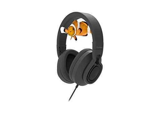CoolBox CoolSand EARTH05 - Auriculares de Diadema Acolchada y Ajustable, alámbricos, Sonido estéreo Color Negro