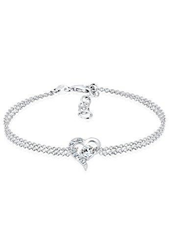 Elli Armband Damen Herz Symbol Liebe mit Swarovski® Kristallen in 925 Sterling Silber