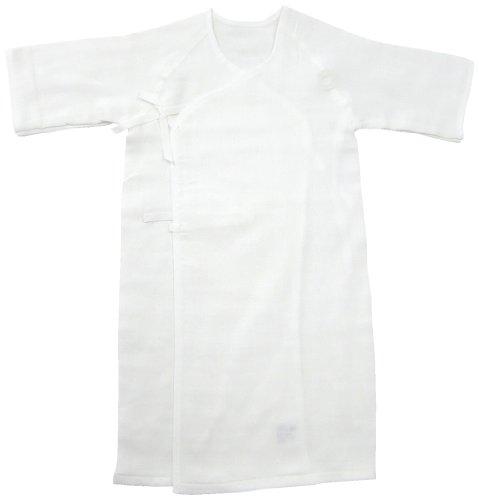 ベビーストーリー ドビー織ガーゼ 長肌着 50cm 白 S7055 日本製