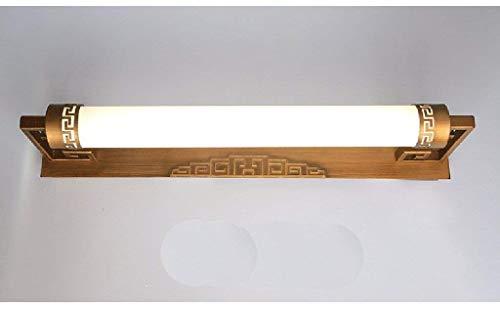 GSZHY Wandleuchte Moderne Spiegel vor dem Schlafzimmer Spiegel Lampe, LED-Lampe Spiegel Locker Waschbecken, der Beleuchtung,Bronze-Trompete-54cm 12w