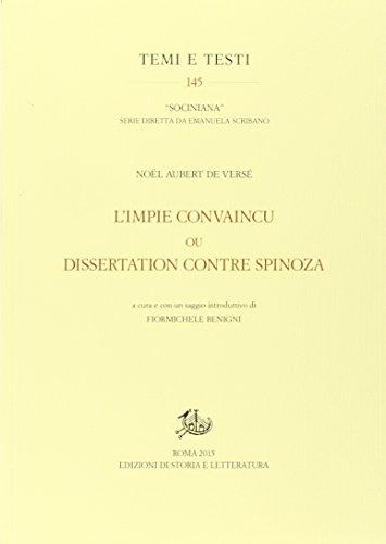 L'Impie convaincu ou dissertation contre Spinoza