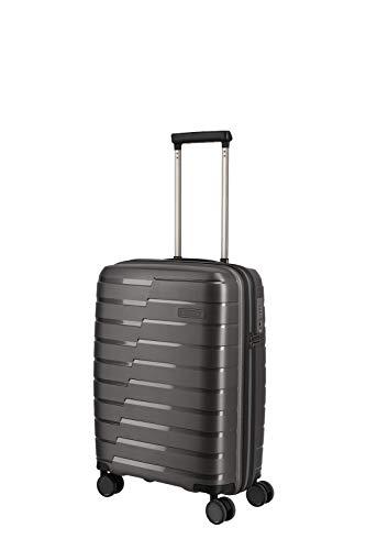 travelite 4-Rad Handgepäck Koffer mit TSA Schloss erfüllt IATA-Bordgepäckmaß, Gepäck Serie AIR BASE: Funktionaler Hartschalen Trolley im coolen Look, 075347-04, 55 cm, 37 Liter, anthrazit (grau)