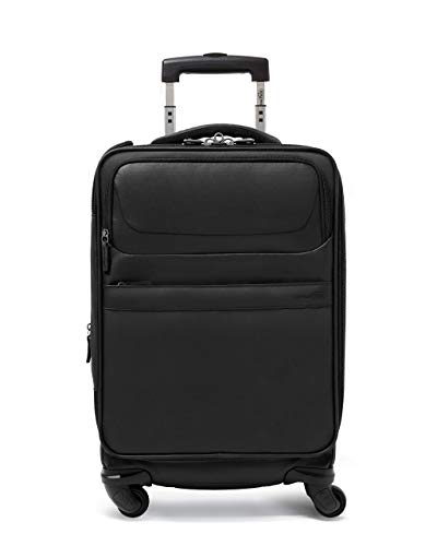 Genius Pack G4 22' Carry On Spinner Luggage - Smart, Organized, Lightweight Suitcase (G4 - Coal Black)