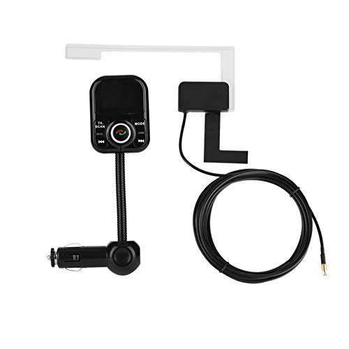 DAUERHAFT Receptor Mini Dab Robusto para Coche de Radio Dab Ligero portátil para Ranura AUX TF con Antena