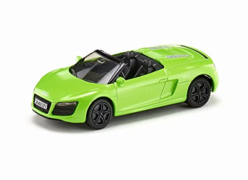 siku 1316, Audi R8 Spyder, Metall/Kunststoff, Grün, Spielzeugauto für Kinder