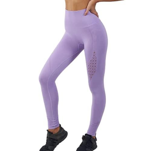 QTJY Pantalones de Fitness elásticos a la Moda para Mujer Pantalones de Yoga Transpirables para Nalgas Pantalones de Entrenamiento de Celulitis para Correr al Aire Libre D L