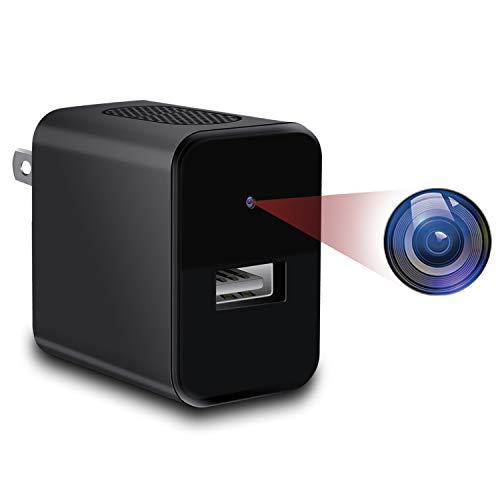 超小型カメラ 1080P HD 隠しカメラ 暗視機能搭載 スパカメラ イビデオ 赤外線 動体検知 盗撮 日本語取扱 黒