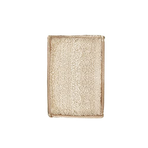 DSISI Esponja de descontaminación de Doble Cara de Fibra de bambú, paño de Cocina, Estropajo doméstico Esponjas para Fregar Esponja para Lavar Platos Esponja para Limpiar Olla Espesamiento