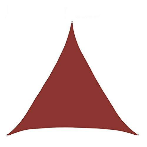 Mihoutao Vela de Sombra Solar Pabellón Triangular Toldo Impermeable de Bloque UV 98%, Patios al Aire Libre, jardín, Patio Trasero, pérgola, terraza, Piscina (Color : J, Size : 300 * 300cm)