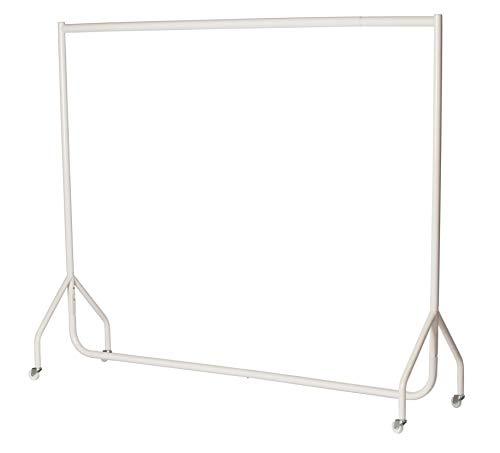 Klädstång 1,5 m lång x 1,5 m hög, robust, 32 mm stålrör, vit