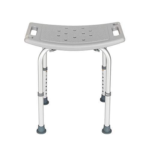 MallMall Medical Spa Shower Bath Chair 7 Adjustable Height Elder People Bathtub Stool Benches Bathing Chair Stools Grey
