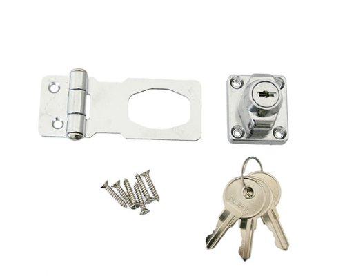 ハイロジック 鍵つき掛金錠 J-455 3ホンキー